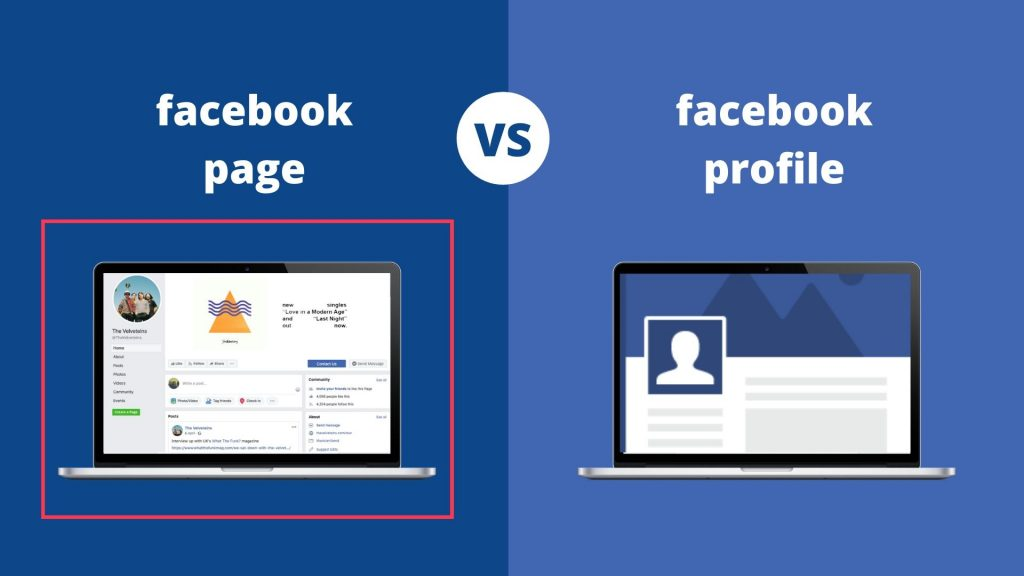 Facebook page vs Facebook profile