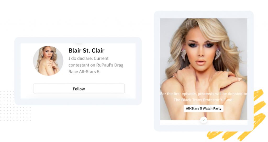 Bio link Blair St.Clair