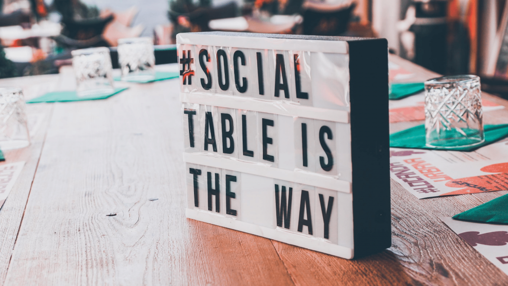 #social table is this way