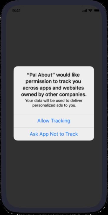 iOS 14 consent prompt